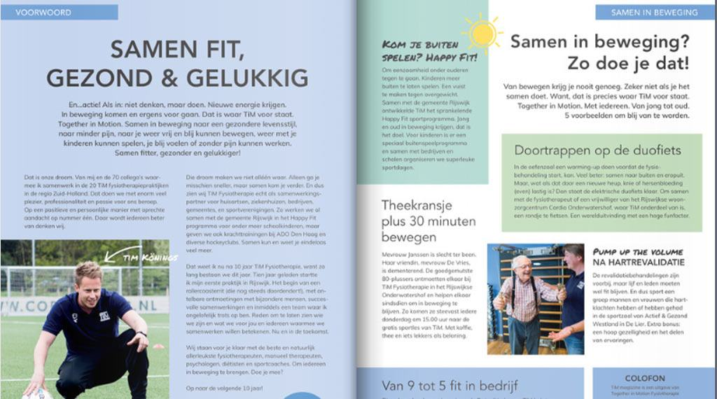 artikel 10 jaar TiM fysiotherapie