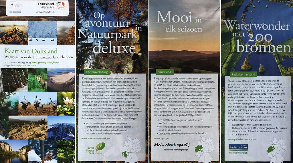 Kaart van Duitsland - Wegwijzer voor de Duitse natuurlandschappen